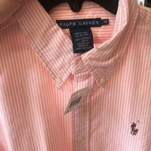 Ralph Lauren pinned strip button down shirt